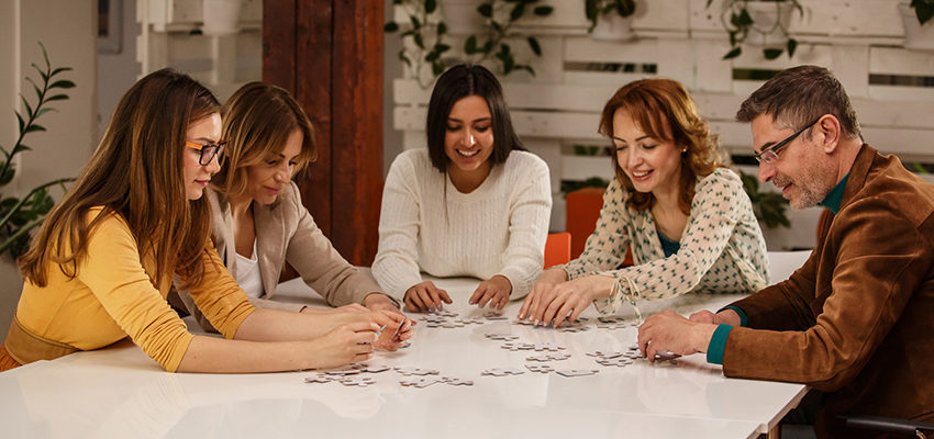family building puzzle