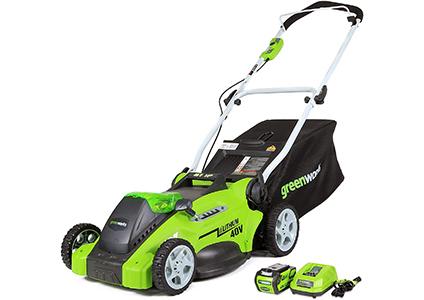 greenworks coordless mower
