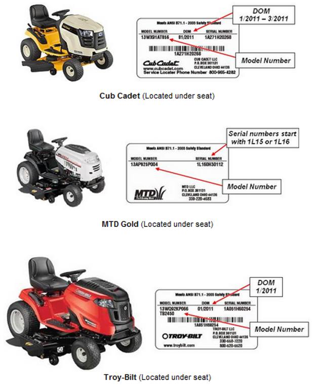 troy bilt riding lawn mower belt diagram with Lawn Mower And Tractor News Recalls on T24817766 Need diagram pit deck belt husqvarna in addition Toro 20016 2600000012609999992006 Lawn Mower Parts C 121776 127291 127648 also Watch also 8jcta Eight Hours John Deere D105 Hydrostatics Won T likewise Craftsman Lt1000 Ride Mower.