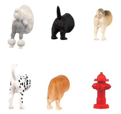 magnets of dog posteriors