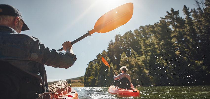 old couple kayaking