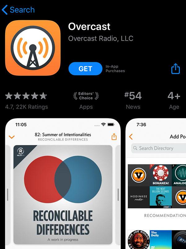 overcast app store
