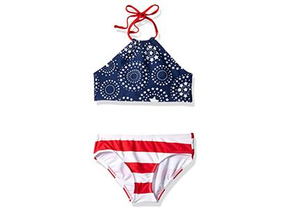 patriotic girls swimsuit
