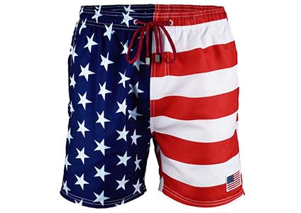 patriotic mens swim trucks