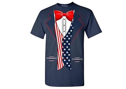 patriotic tuxedo shirt