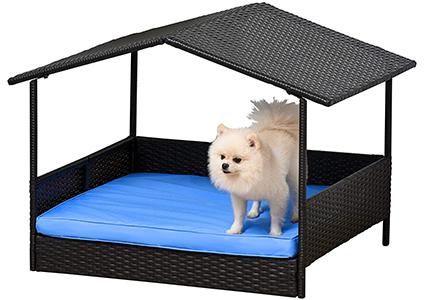 pawhut open doghouse