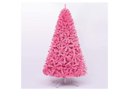 pink faux pine tree
