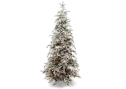 pre-lit flocked balsam tree