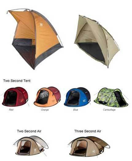 Recalled tents