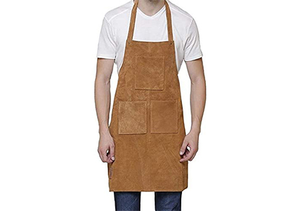 genuine leather work apron
