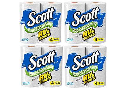 scott rapid dissolve bath tissue