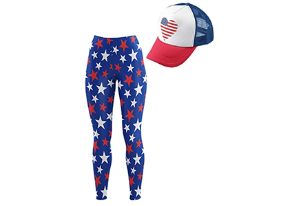 star leggings with hat