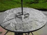 Sounds of Summer  Martha Stewart Tables Shattering. Martha Stewart Outdoor Patio Furniture Replacement Glass. Home Design Ideas