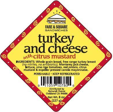 Turkey and Cheese Label