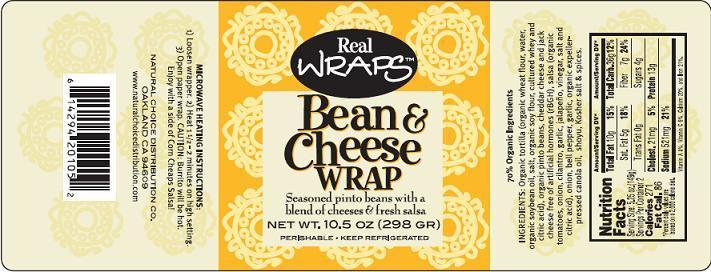 Bean and Cheese Wrap Label