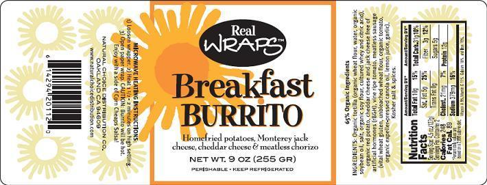 Breakfast Burrito Label