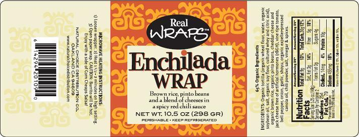 Enchilada Wrap Label
