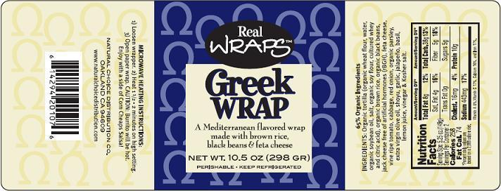 Greek Wrap Label