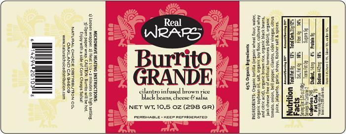 Burrito GRANDE Label