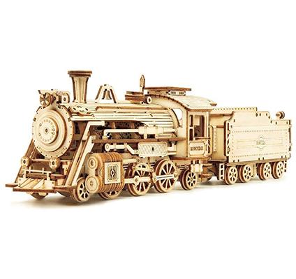 wood train puzzle