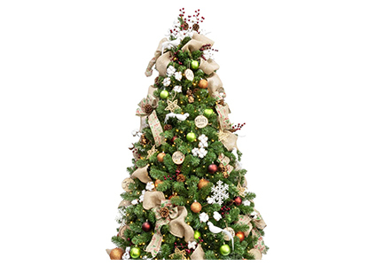 woodland ornamental christmas tree