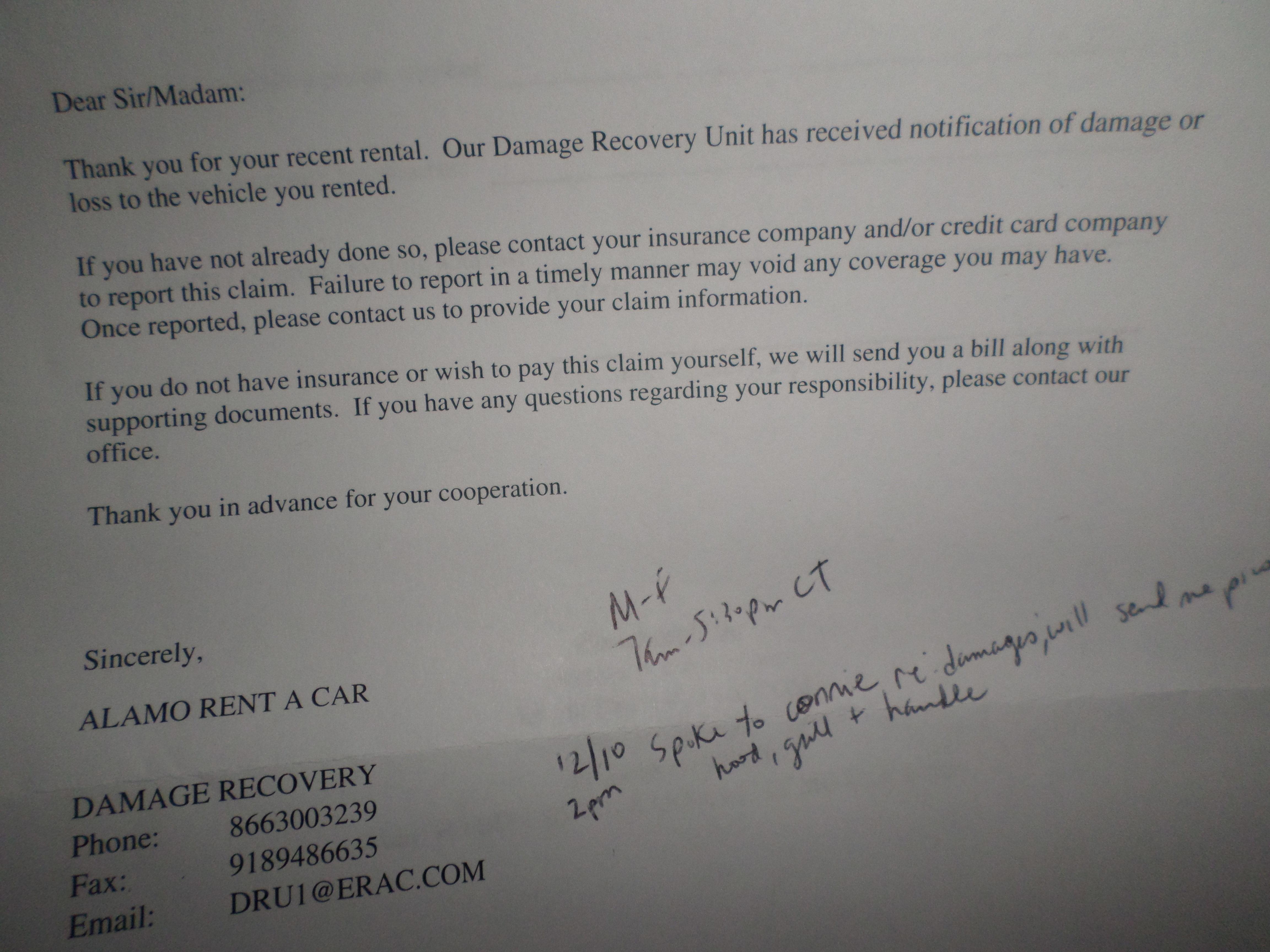 Alamo Car Rental Complaints