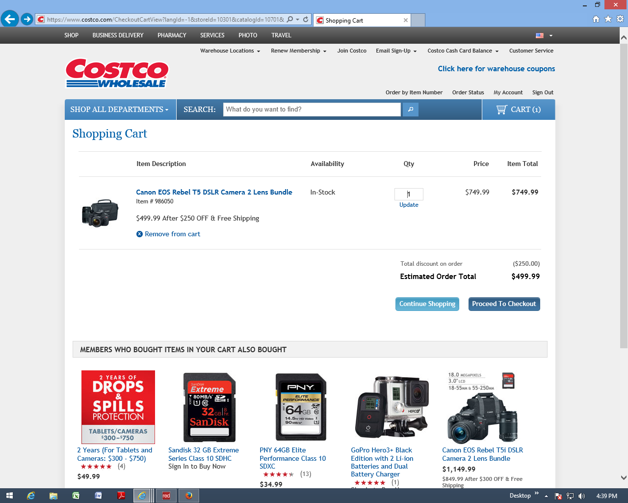 top complaints and reviews about costco pharmacy page  i was trying to order on costco com a canon camera item 986050 which is listed at 749 99 250 rebate for a total of 499 99 which includes