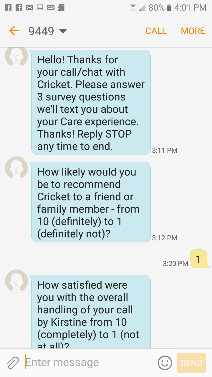 Cricket wireless customer service - I Spent 4 Hours This Morning Trying To Get Credit On My Account And My Phone Sent In This Phone Is Defective And So Is Your Customer Service