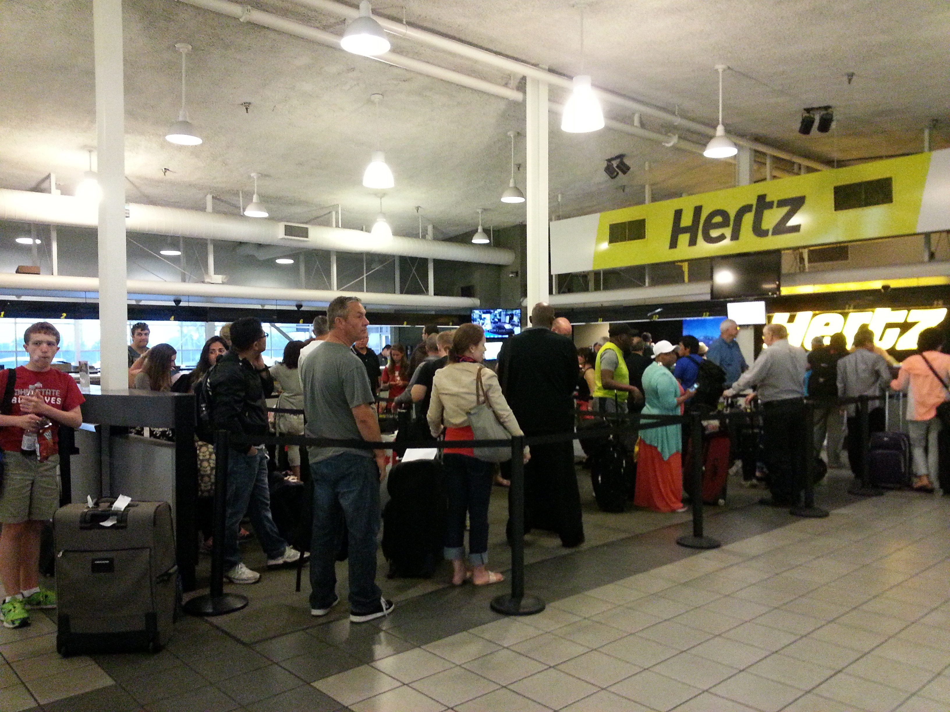 Hertz car rental at Los Angeles  Airport LAX