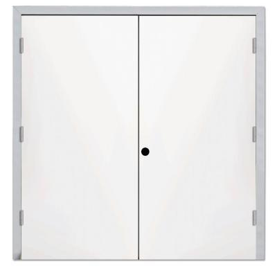 usually when you hear the term steel pre hung door it is perceived that both the doors and door jamb encasement are 100