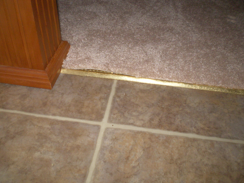 Carpet tack strip tile