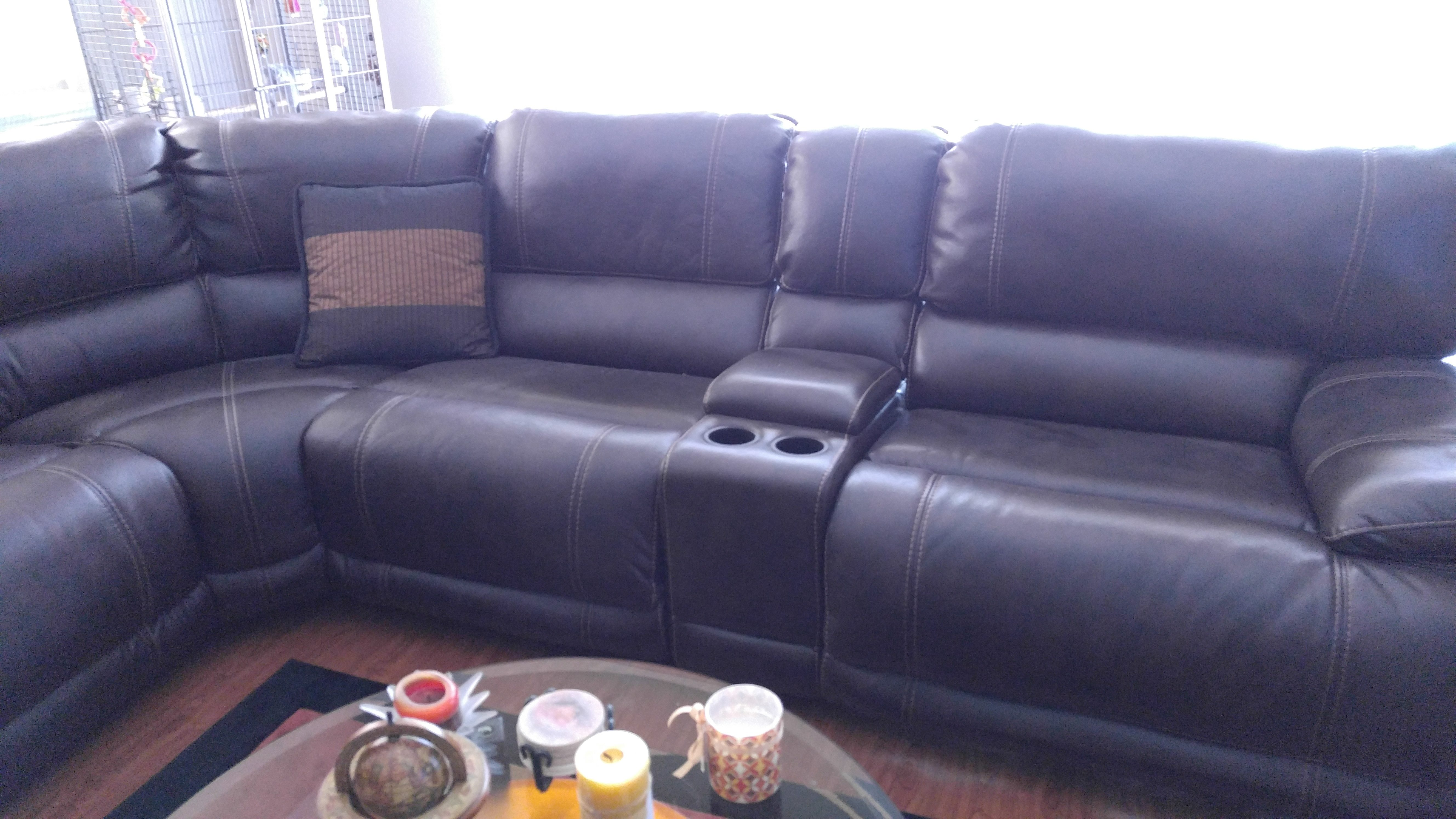 3 years ago i remodeled my home and purchased a sectional from them it was supposed to be polyester not bonded or leather been there done that