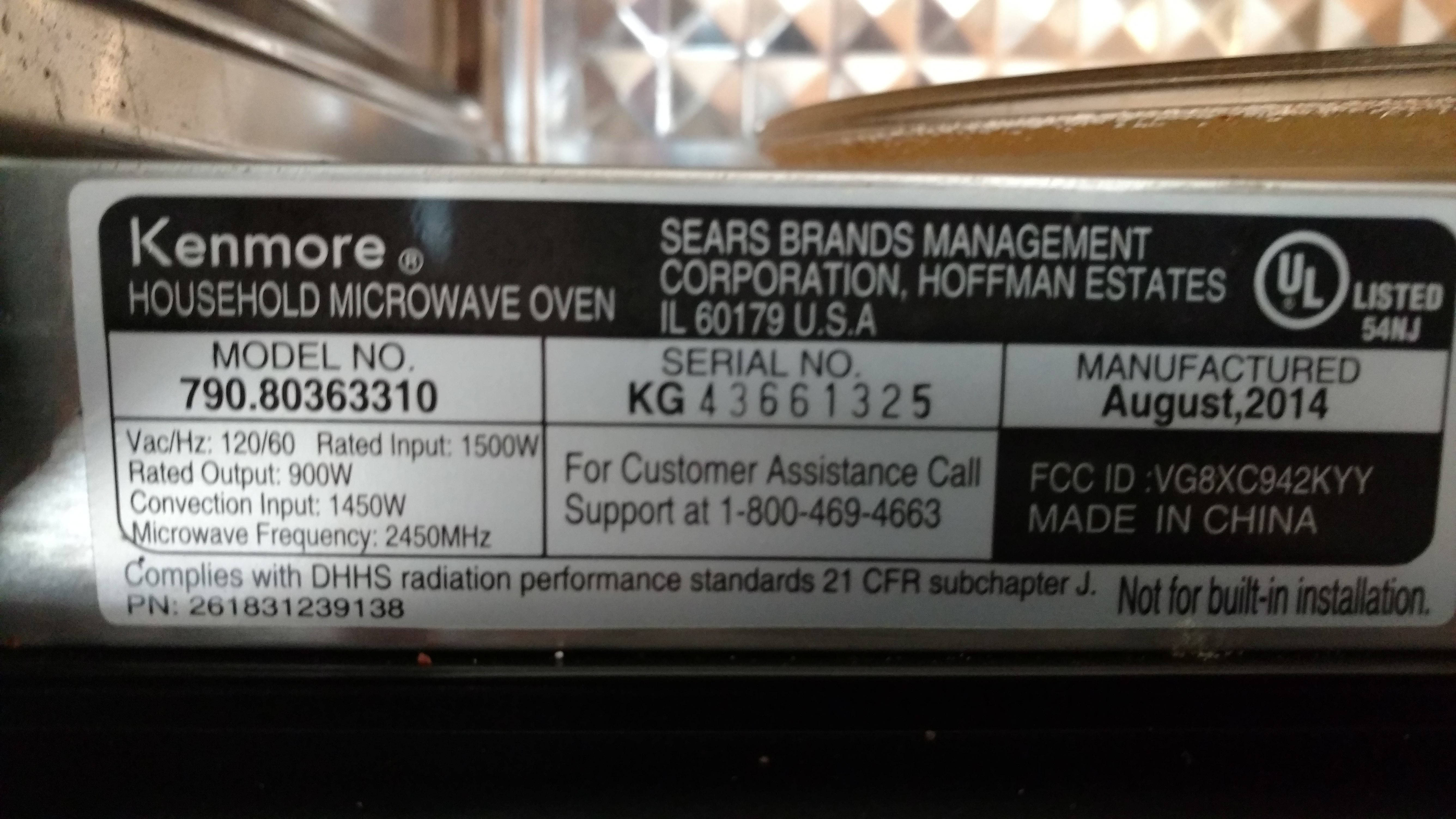 Top 39 Reviews And Complaints About Kenmore Microwave