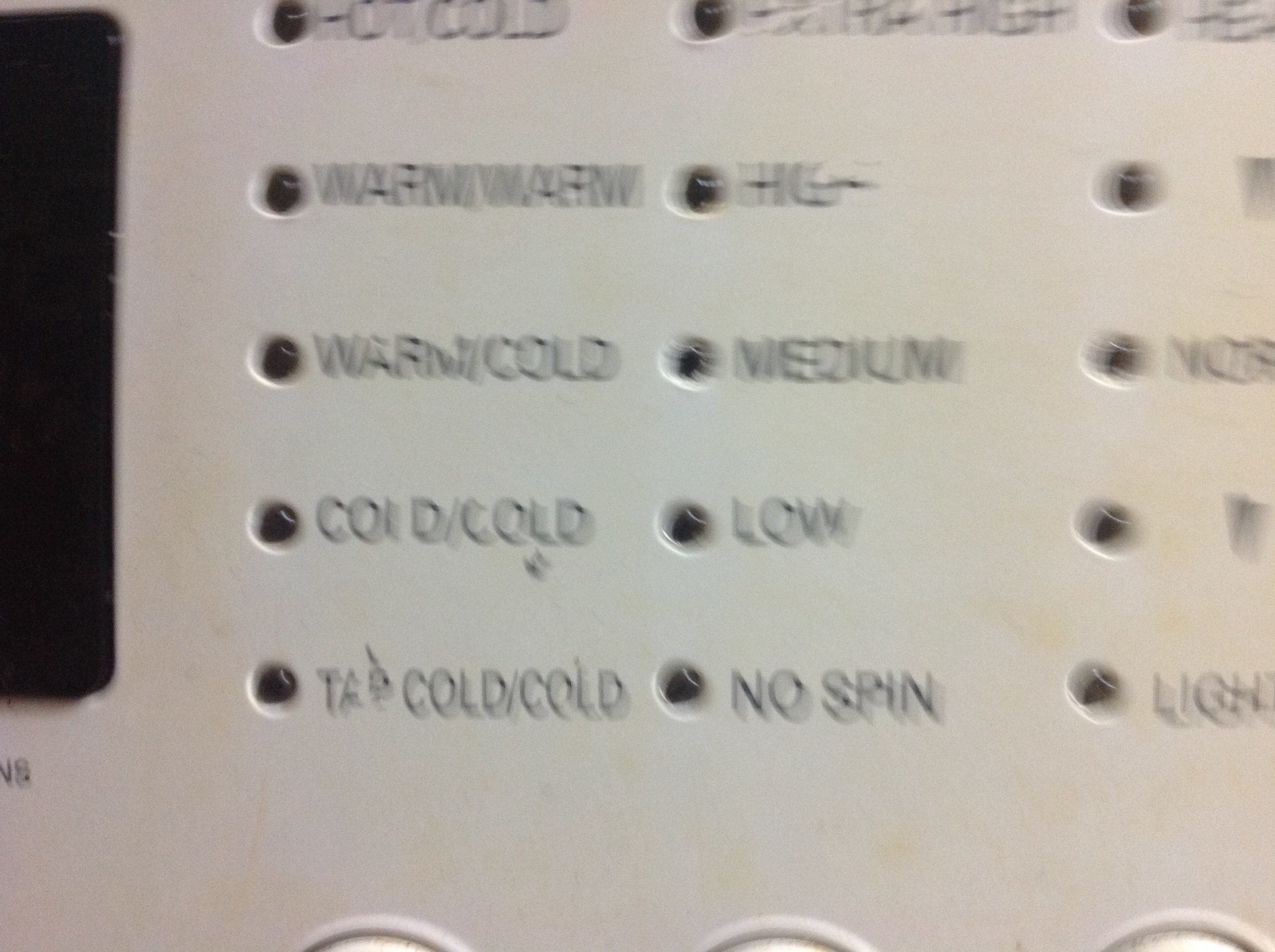 Sears lg washer and dryer - I Bought An Lg Washer And Dryer From Sears About 8 Months I Noticed All The Lettering Coming Off The Machine The Dryer I Noticed First