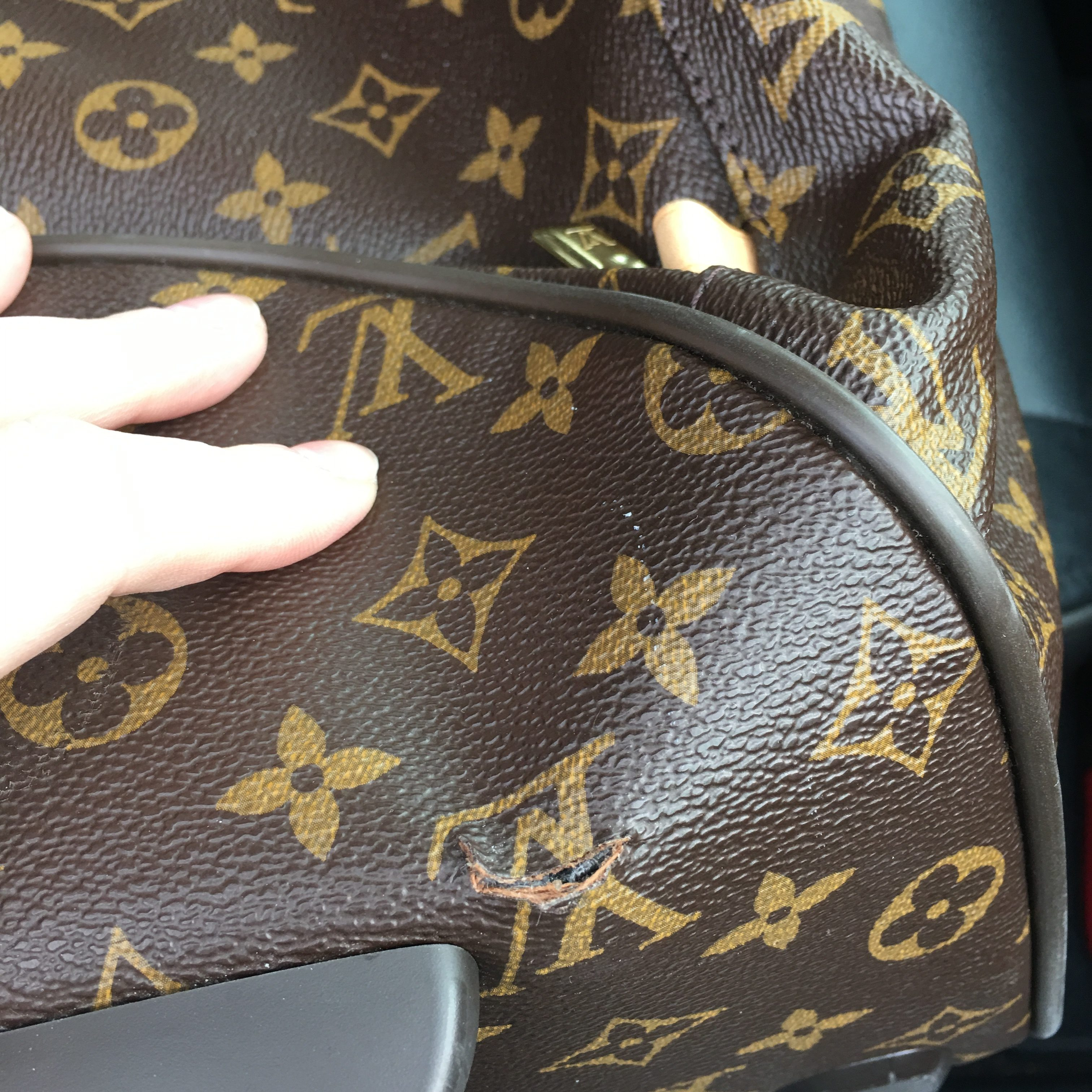 I Purchased A Small Louis Vuitton Carry On Bag For The Plane Back In March  Of 2015, And A Few Weeks Ago Found A Small Tear In The Leather
