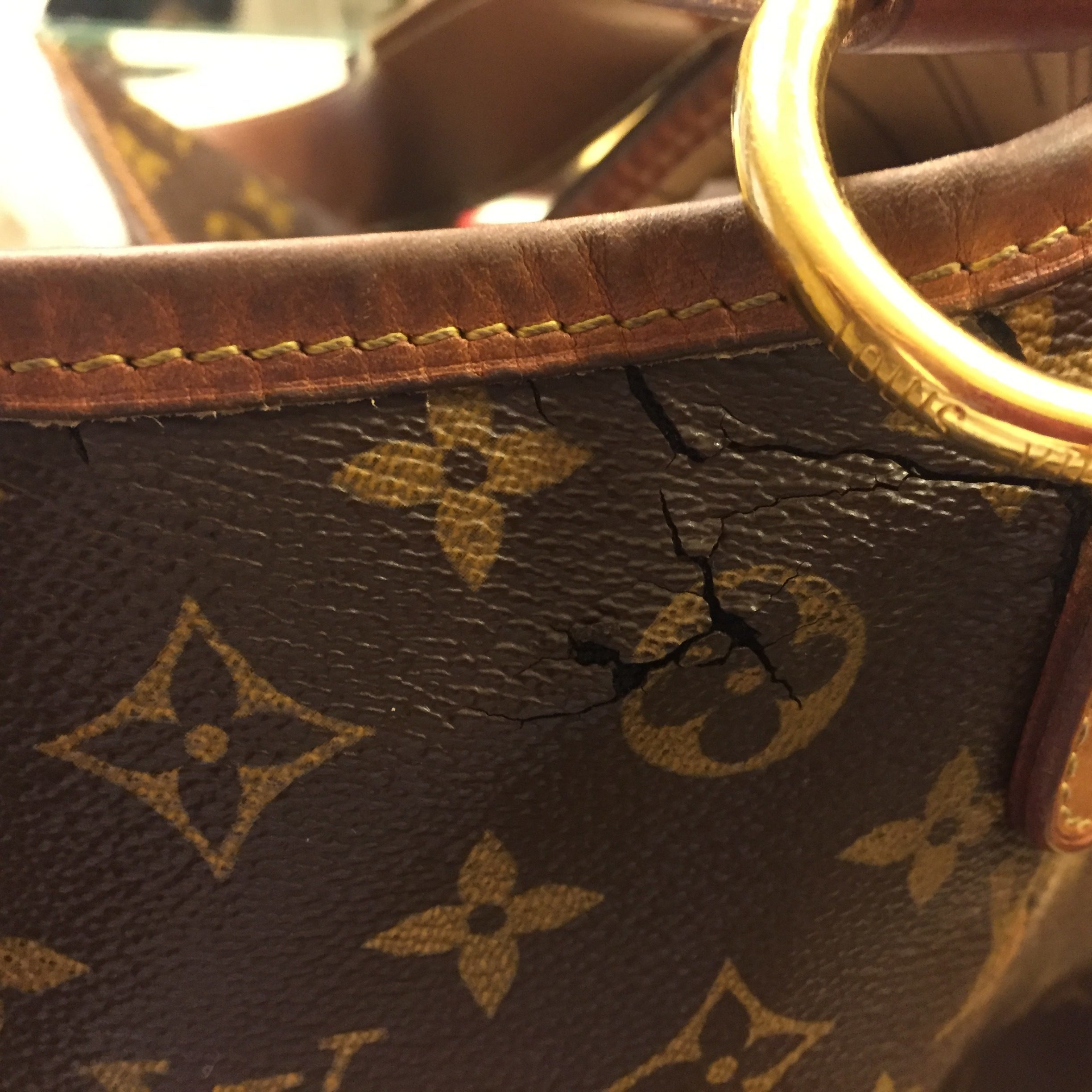 I Purchase A Louis Vuitton Delightful Gm From Birmingham Saks 3 Years Ago  As The 1st Year Of Having The Bag I Contacted The Store, Showed How It Was