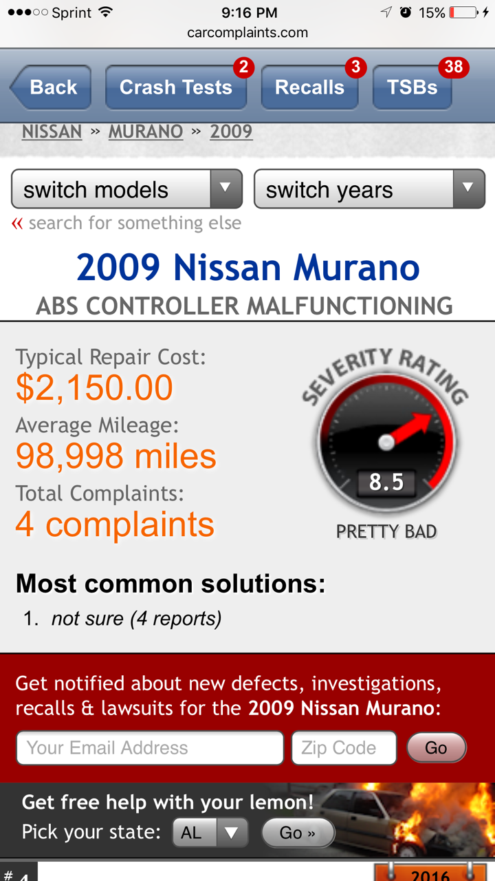 2003 Nissan Murano Transfer Case 3 Complaints