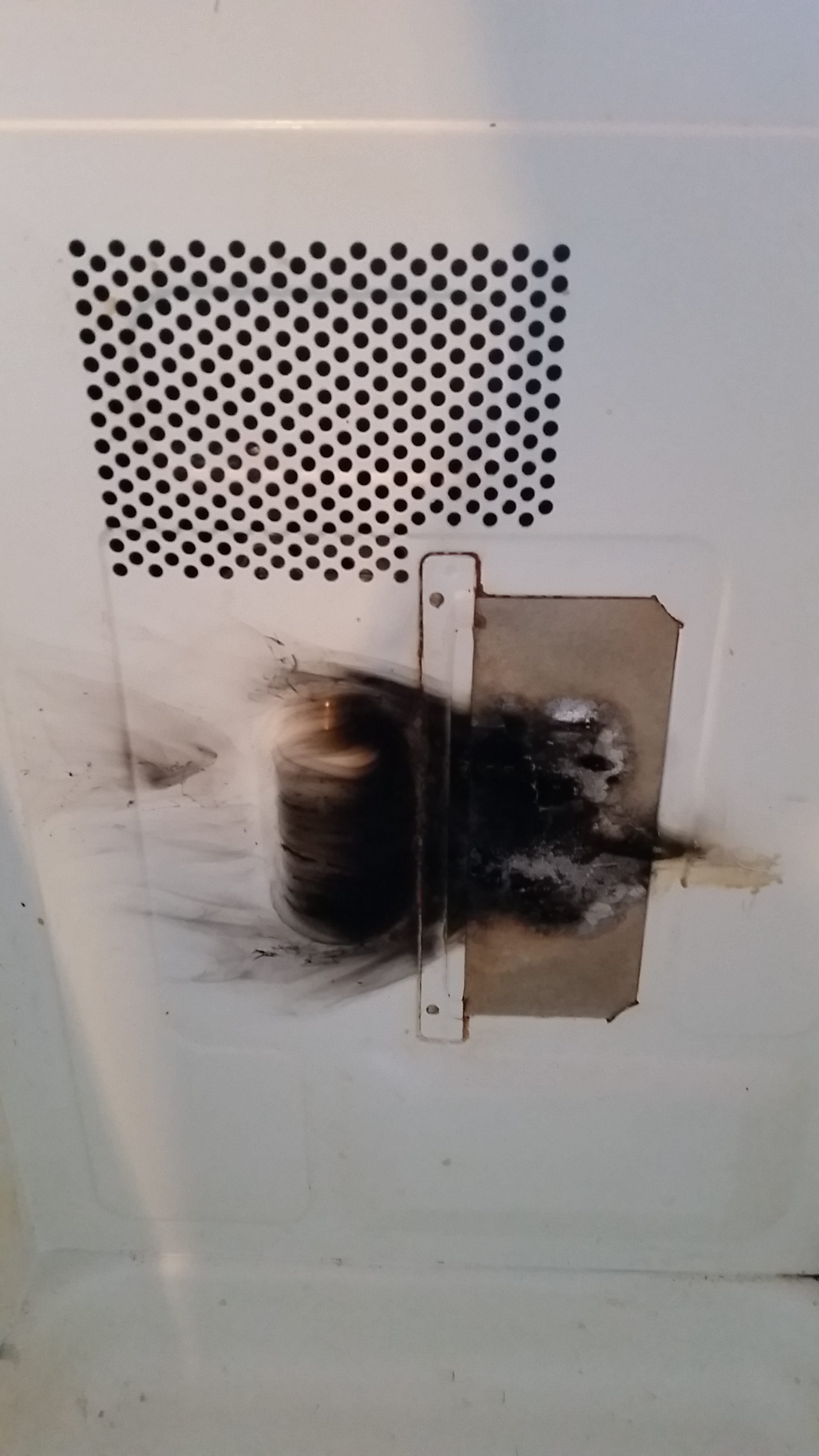 My Panasonic Microwave M N Nn Sn661s Caught On Fire I Had To Unplug It Make The Stop And Put Out Flames Contacted