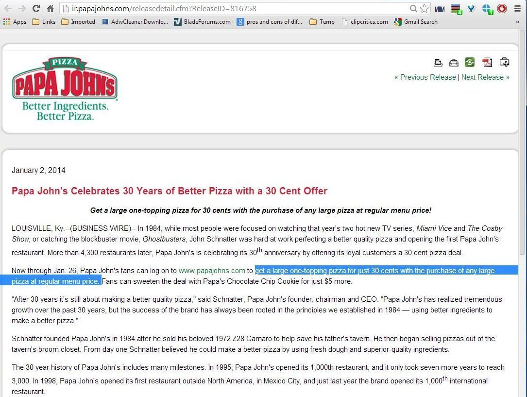 top 262 complaints and reviews about papa john s page 5