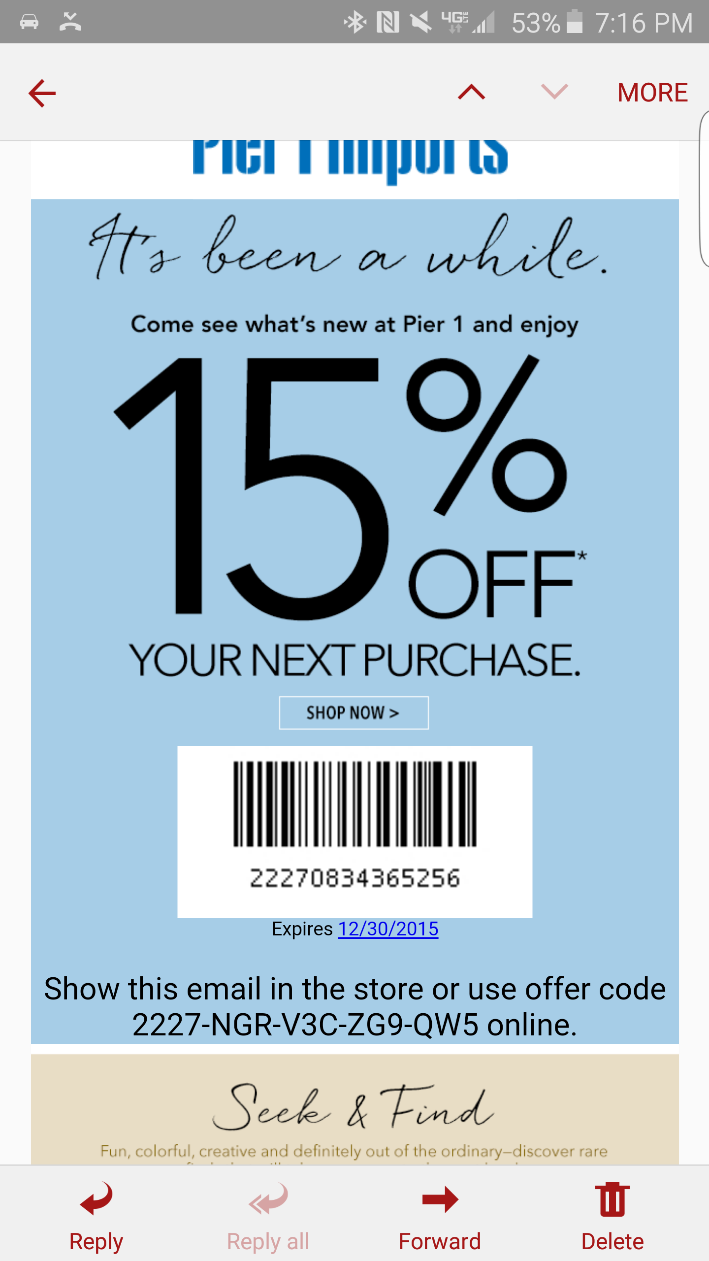 Pier1 coupon codes