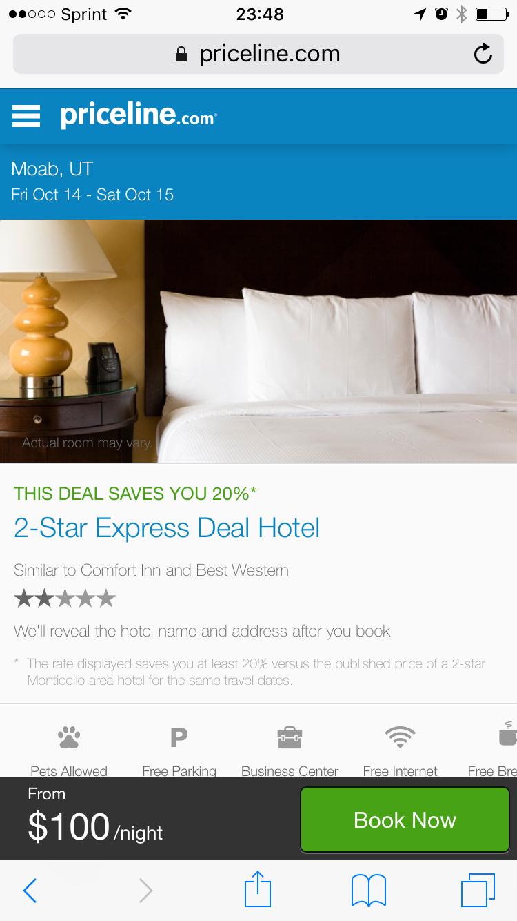 Priceline Express Deals Hotel Revealed