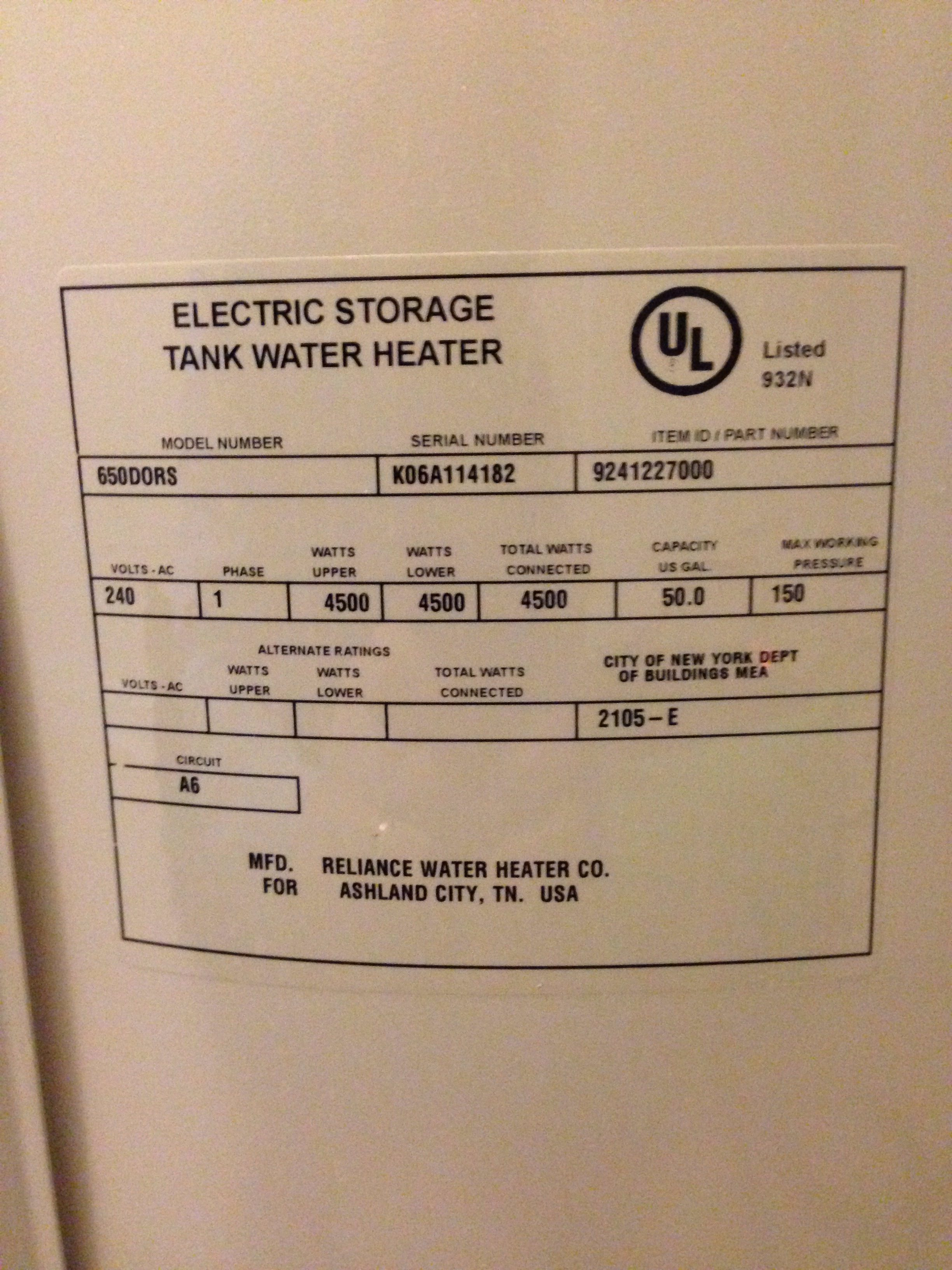 Top 139 Complaints And Reviews About Reliance Water Heaters