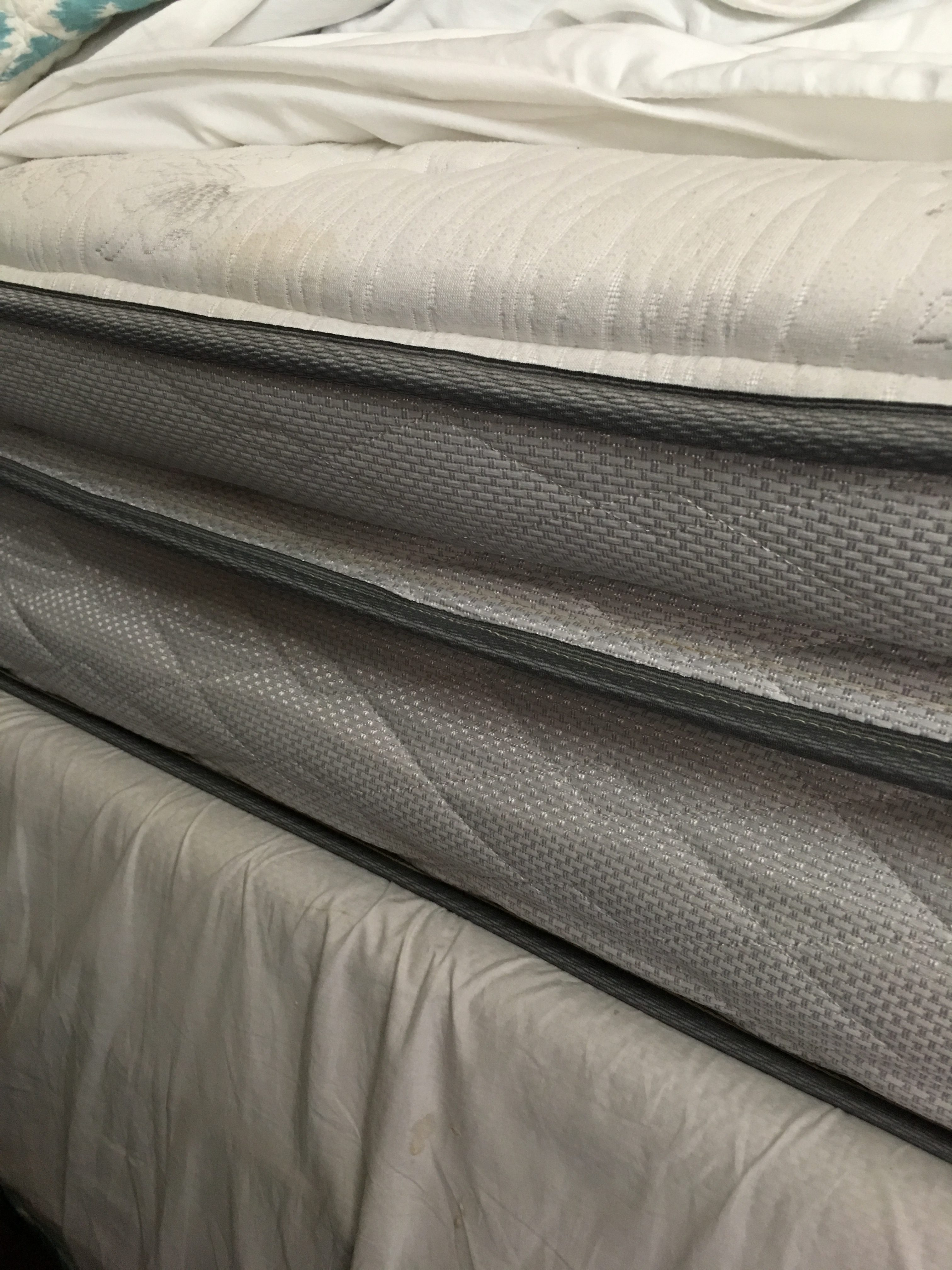 """We had a 5 star king size Serta mattress that has shifted 3"""" and the guy  that came out said he has NEVER seen anything like it!"""