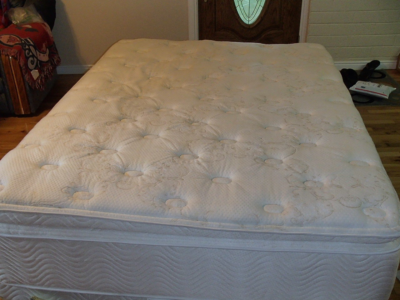 I bought a Simmons Beautyrest Pillow Top Queen Mattress and box spring from  Linda's Furniture for just under $2000. I need a firm mattress for back  pain.