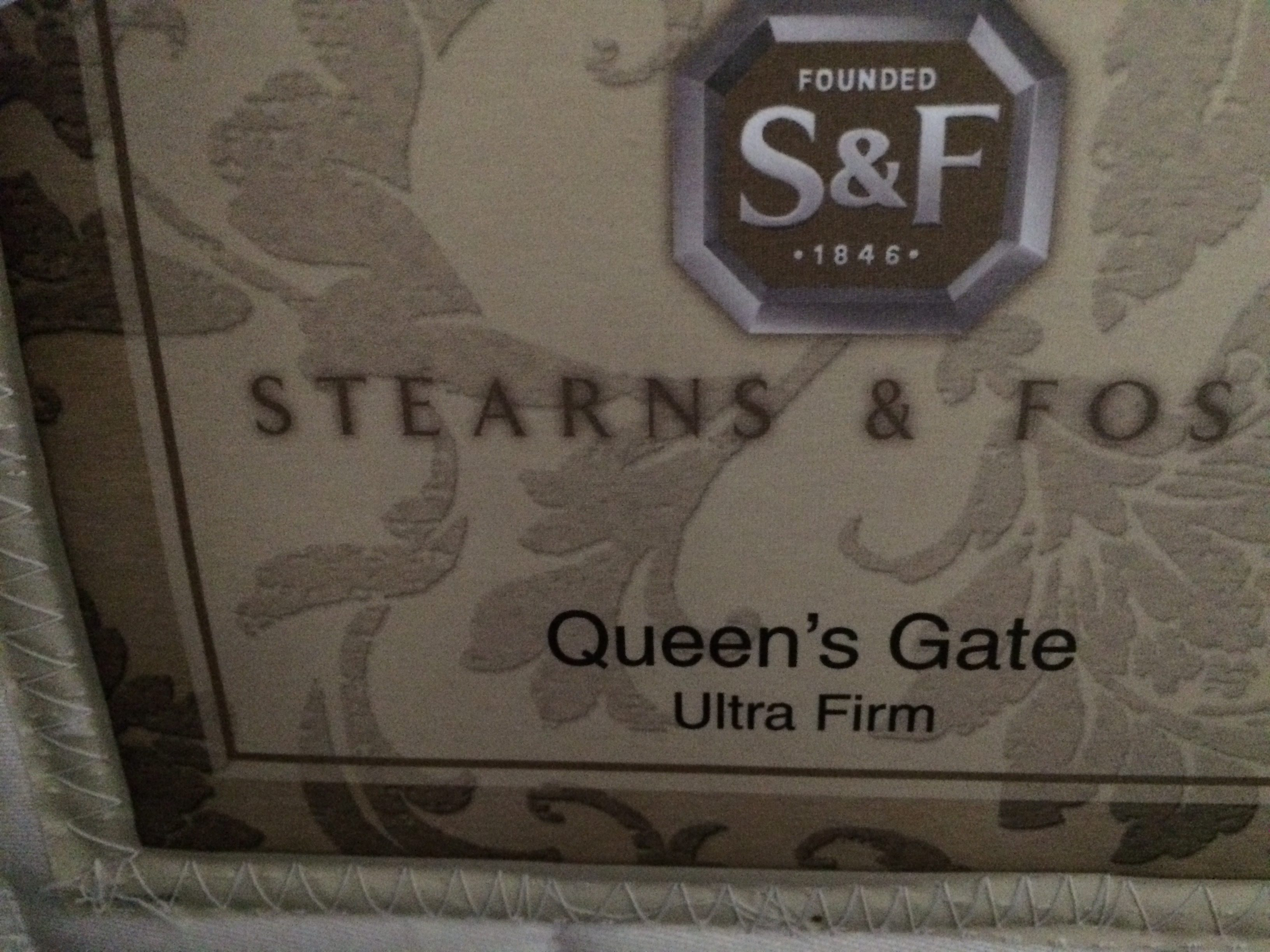 I've read the negative reviews about Stearns & Foster and agree with every  one of them. My king mattress is a Queens Gate ultra firm, is five years  old and ...