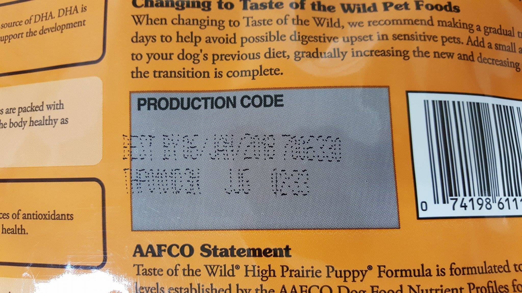 What was the Taste of the Wild cat food recall?