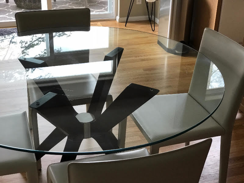 We Bought This 1300 Glass Table On 4 01 2017 From Thomasville Of Bellevue  But Just