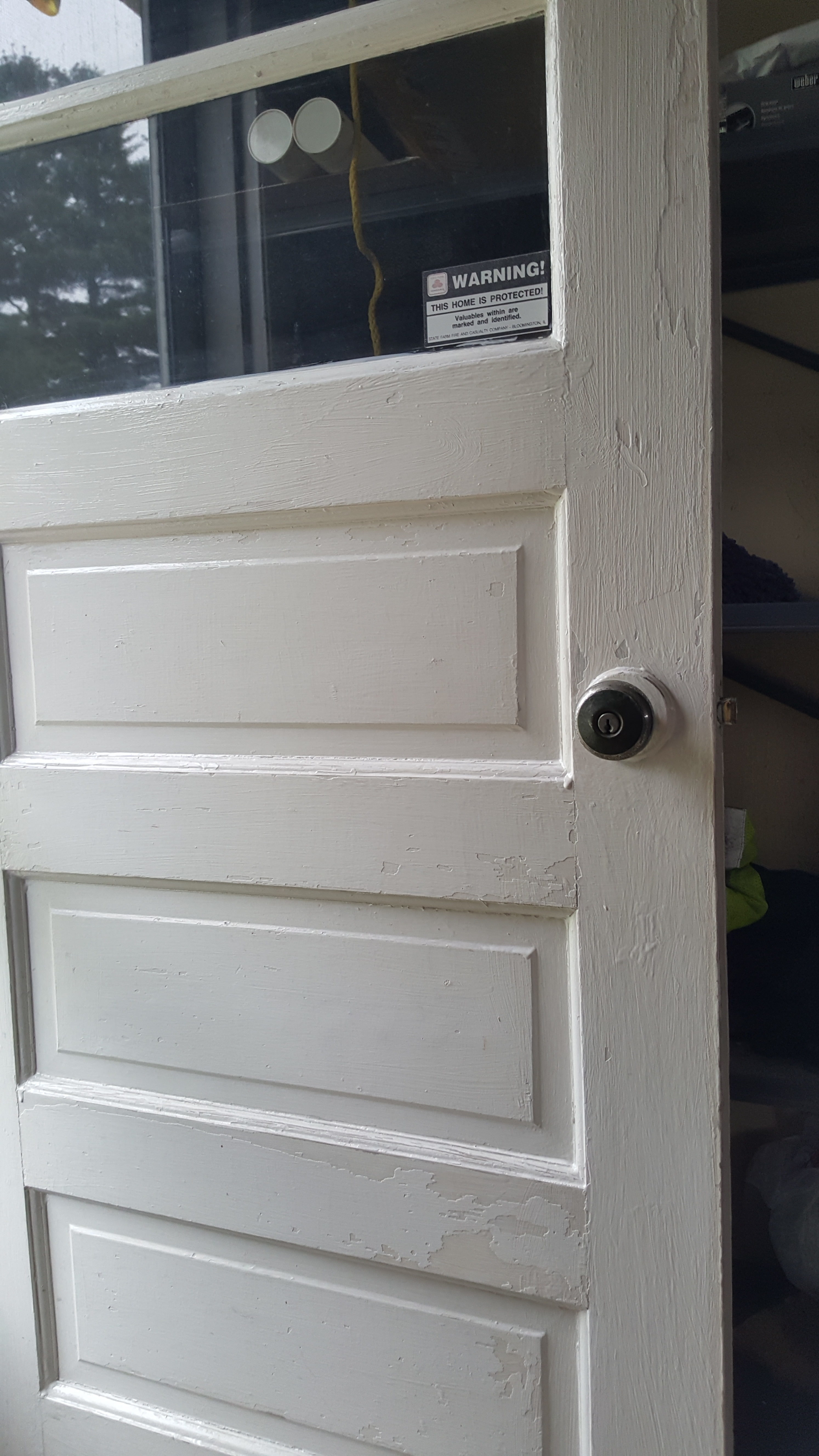 Tried To Paint My Exterior Windows Thought It Was The Caulking I Put On Then Went To Paint My Garage Exterior Door Sanded It Cleaned It