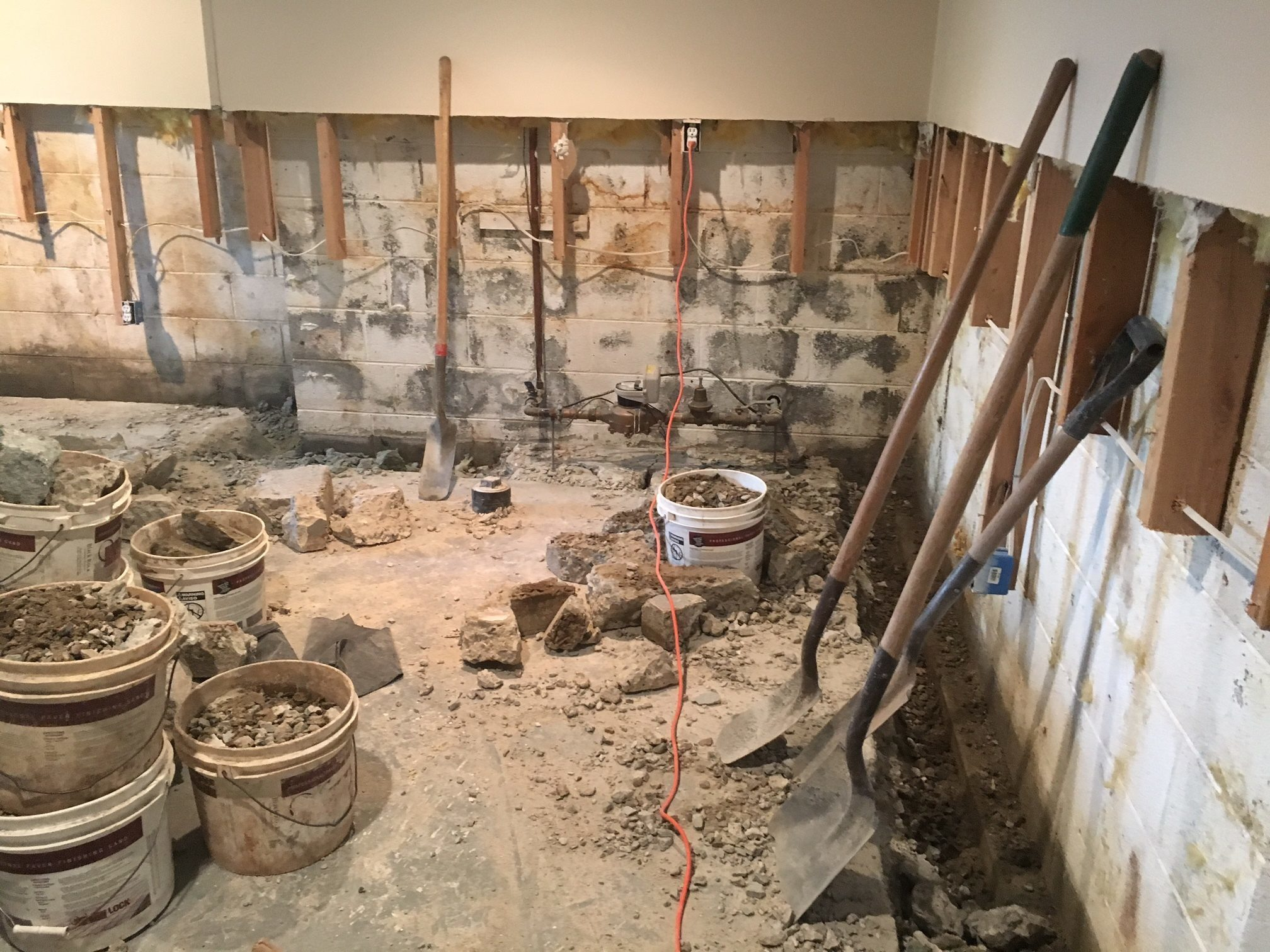 Basement Water Proofing Nj Part - 36: Vulcan Basement Waterproofing Installed A French Drain And Sump Pump Back  In 1999. We Had Continuing Problems Which They Addressed In 2000.