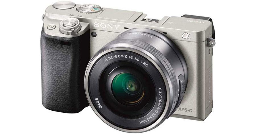 Sony A6000 w/ 15-50mm lens camera